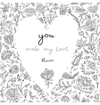 you make my heart bloom white card vector image