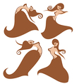 belly dance vector image