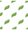 eco leaf icon in cartoon style isolated on white vector image