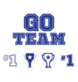 Go Team text and sports icons set vector image