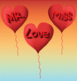 love to mr and miss vector image