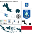 Map of BangkaBelitung Islands vector image