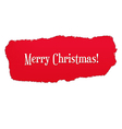 Red Paper Hole With Christmas Text vector image