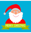 santa inside ribbon vector image