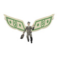 winged businessman vector image