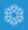 figurate snowflake icon simple style vector image vector image