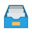 file cabinet flat icon vector image