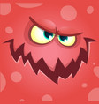 cartoon scary monster face vector image