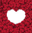 Empty Heart Shape on Rose Background vector image vector image