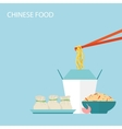 Chinese Food Background vector image vector image