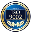 ISO 9002 vector image vector image