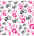 hand print pattern vector image