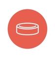 Hockey puck thin line icon vector image