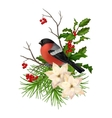 Christmas decorative composition vector image