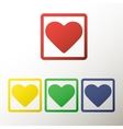 Collection of buttons with the heart vector image
