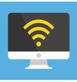 Computer Display Wifi Icon vector image