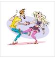 Couple dancing rock vector image