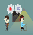 Employers force employees to do overtime vector image