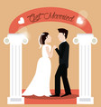 Get married couple holding hands beautiful vector image