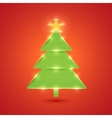 Glowing Christmas tree New year and merry vector image