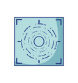 gun sight circle with shooting focus vector image