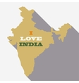 India map - vector image