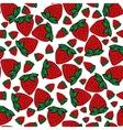 Seamless pattern strawberries berries vector image