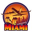 Travel Miami vector image