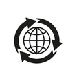 The global solution icon WWW and browser vector image