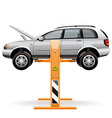 Repair car on a lift vector image vector image