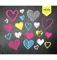 Collection of Valentine hearts vector image