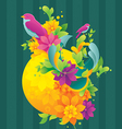 Spring colorful background vector image