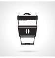 Takeaway coffee black icon vector image
