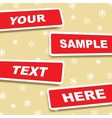 Banners with place for text vector image vector image