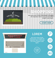 Shopping On-line Set of Flat Design Concepts for vector image