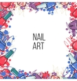 nail lacquer bottles vector image