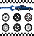 car wheel 03 01 vector image