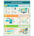 Website Development Infographics vector image