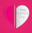 Pink paper heart folding vector image