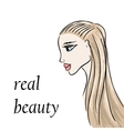 woman or girl fashion background vector image