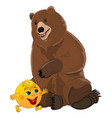 bun kolobok and bear vector image