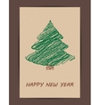 Creative Christmas tree card vector image