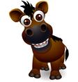 Cute horse cartoon vector image