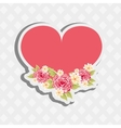 floral decoration design vector image
