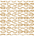 Glasses and Sunglasses Gold Seamless Pattern Sketc vector image