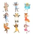 Kids Dressed As Animals Set vector image