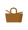 picnic basket isolated wicker basket on white vector image