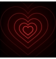 Red Neon heart Background vector image