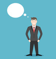 Thinking or dreaming businessman vector image
