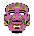 tribal mask icon cartoon vector image